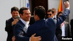 Зоран Заев и Алексис Ципрас в Скопие