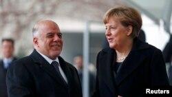 العبادي مع المستشارة الألمانية ميركل - برلين 6 شباط 2015