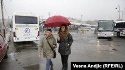 Iva Čukić i RSE novinar Ognjen Zorić u šetnji Savamalom, foto: Vesna Anđić