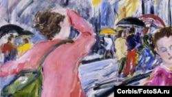 """Фрагмент картины американского художника Ричарда Фокса """"Дождь и ветер"""""""