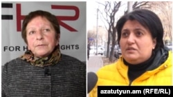 Armenia-Lawyers and human rights activists Zhanna Aleksanian and Nina Karapetiants, 24Feb2021