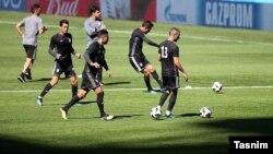 آخرین تمرین تیم ملی فوتبال ایران قبل از بازی با مراکش