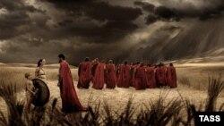 "Кадр из фильма Зака Снайдера ""300 спартанцев"""