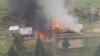 تصاویر تلویزیونی از محل سقوط هلیکوپتر نظامی پاکستان.