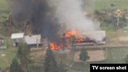На месте крушения Ми-17 в Пакистане