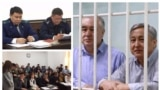 Текебаев менен Чотоновдун сотунан буга чейин тартылган сүрөттөр.