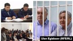 Фотографии с судебных процессов по делу Омурбека Текебаева, кыргызского политика, лидера оппозиционной партии «Ата Мекен».