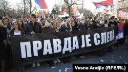 Protest studenata zbog haških presuda