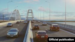 ЗD модель Керченського мосту