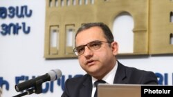 Министр экономического развития и инвестиций Тигран Хачатрян, Ереван, 2 мая 2019 г.