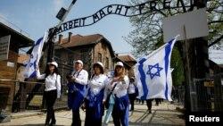 Бұрынғы Аушвиц-Биркенау концлагеріндегі Холокост құрбандарын еске алуға арналған марш. Польша, 5 мамыр 2016 жыл.