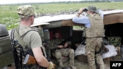 Українські військові на позиціях у Луганській області, архівне фото