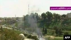 Кадры сирийского государственного телевидения из репортажа о событиях в Дераа
