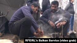 Izbeglice i migranti kod Sombora u Srbiji