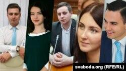 Молоді прихильники Олександра Лукашенка, які відповідали на запитання Радіо Свобода (колаж)