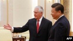 رئیسجمهوری چین خطاب به آقای تیلرسون گفته است «شما گفتید روابط چین و آمریکا، فقط در زمره روابط خوب است که تعریف میشود… من با احترام به این سخنان مینگرم»
