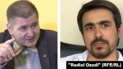 "Рахматилло Зоиров, председатель СДПТ (слева), и Сухроб Зафар, глава движения ""Группа-24""."
