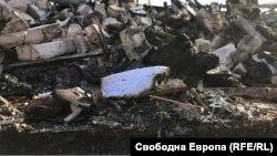 Административната сграда на психодиспансера край Сточна гара е напълно изгоряла