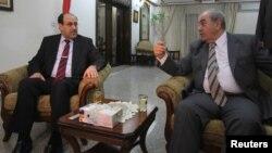 اجتماع بين علاوي والمالكي. بغداد حزيران 2010