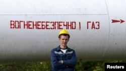 Газопровод в поселке Воловец в Украине