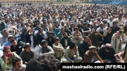 A Pashtun protest in Mir Ali, North Waziristan on March 2.