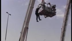 """""""İntihar körpü""""sündə 3-cü olay: Fəqan Nəsibov qurtarıldı"""