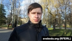 Васіль Герасімчык у гарадзенскім парку Жылібэра