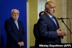 Emilian Ghebrev și premierul bulgar Boyko Borisov la Sofia, octombrie 2017