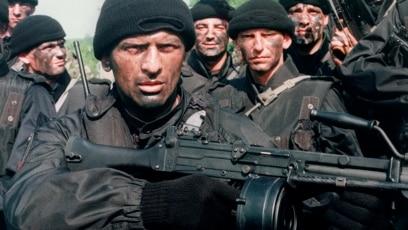 """Pripadnici paramilitarne formacije """"Srpska dobrovoljačka garda"""", poznatija kao Arkanovi """"Tigrovi"""""""