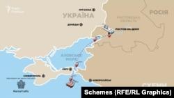Крім перельотів Медведчука в локдаун, «Схеми» звернули увагу і на дивні маршрути нафтових танкерів, зареєстрованих на російську компанію його дружини – «Роузвуд Шиппінг»
