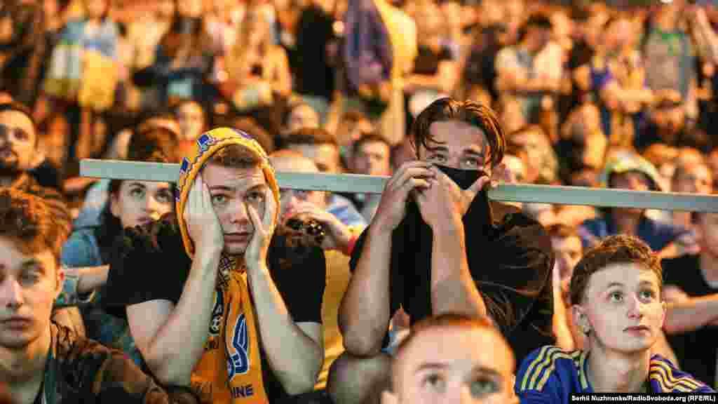 Реакция болельщиков сборной Украины на пропущенный гол