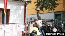 Pamje gjatë arrestimit