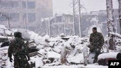 Forcat pro-qeveritare të Sirisë ne Aleppo më 21 dhjetor