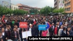 Protest u Prištini, 14. maj 2016.