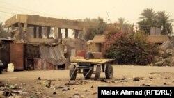 جانب من مجمع الصادق في الوشاش، بغداد حيث يسكن مرحلون