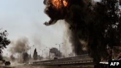 Pamje pas një eksplodimi në Mosul të Irakut