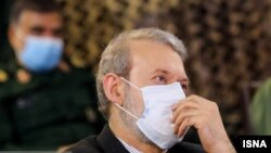 Ali Larijani wearing a protective mask. April 2, 2020