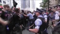Чикагода намойишчилар полиция билан тўқнашди