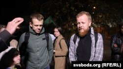 Journalists Uladz Hrydzin and Alyaksandr Vasyukovich were released on September 24 after 11 days in jail in Minsk.