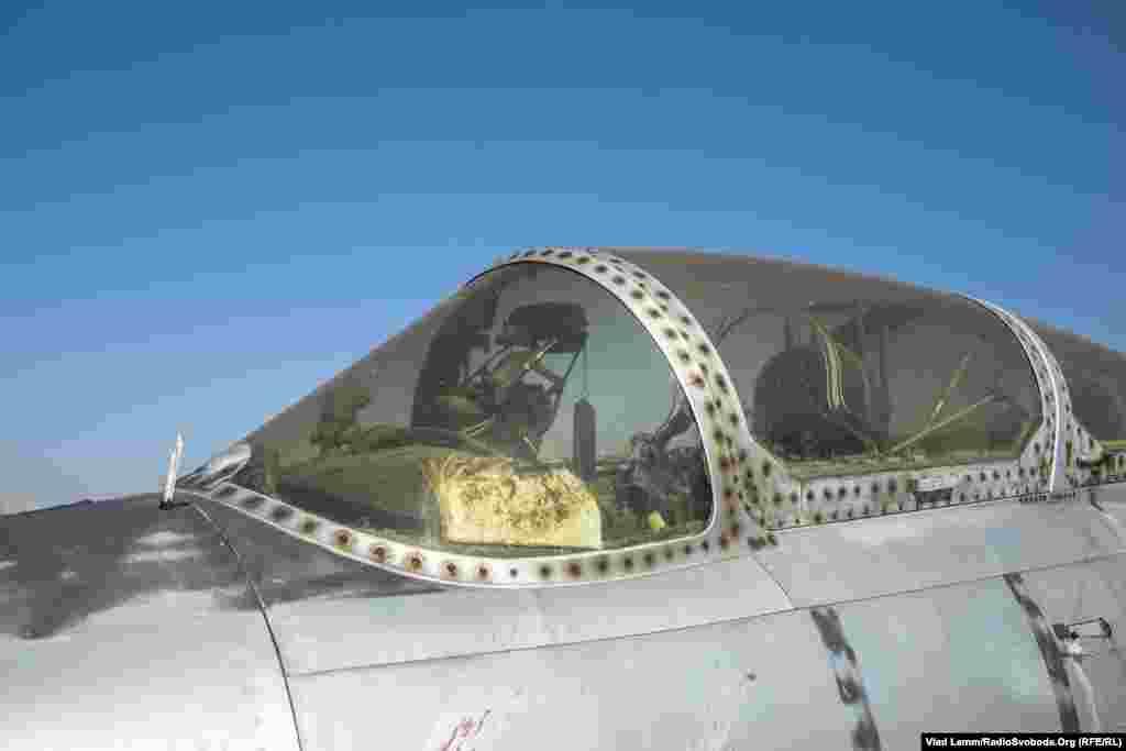 Остатки кабины пилотов самолета Л-29 «Дельфин»