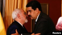 Nicolas Maduro və Mohammad Javad Zarif