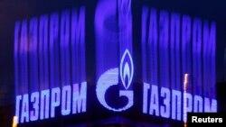 """""""Газпром"""" компаниясының белгісі. Көрнекі сурет."""