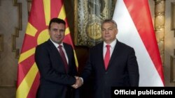 Будимпешта-Премиерите на Македонија и на Унгарија Зоран Заев и Виктор Орбан,28.11.2017