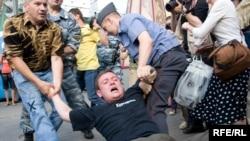 """Митинг в Москве, организованный """"Другой Россией"""", 31 июля 2009"""