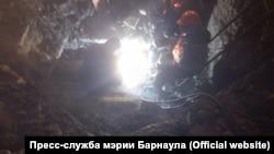 Авария на теплосети в Барнауле