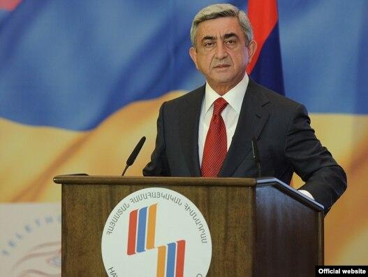 سرژ  سرکيسيان، رييس جمهوری ارمنستان