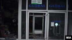 "Macedonia the fire in the shopping center ""Global"" in Strumica has been extinguished"
