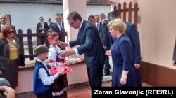 Kolinda Grabar Kitarović in Aleksandar Vučić, u Dalju u Hrvatskoj, 20. jun 2016.