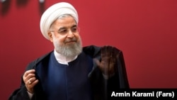 Iranian President Hassan Rohani has been under increasing pressure as the rial has plummeted by nearly half in the last six months.