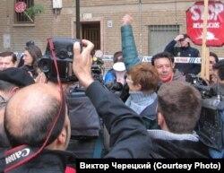"""Один из митингов """"Платформы пострадавших от ипотеки"""""""